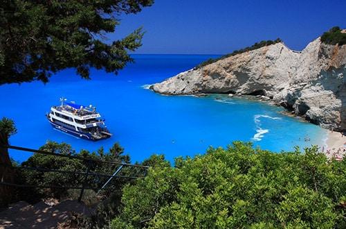Pláž Porto Katsiki v Grécku