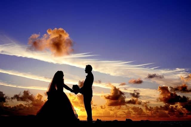 Svadba - západ slnka